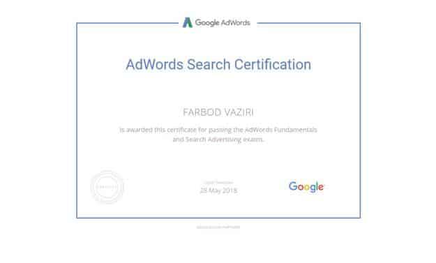 مدرک گوگل ادوردز