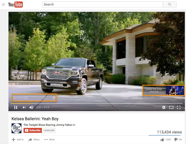 2- تبلیغات یوتوب غیر قابل چشم پوشی (Preroll Ads)