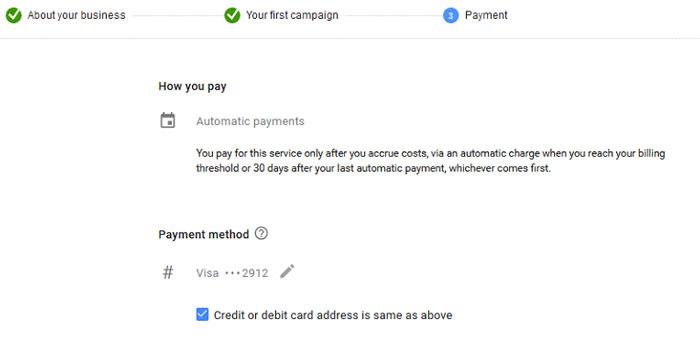 مشخصات ویزا کارت بانکی خود را وارد کنید