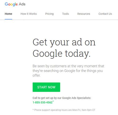 قدام به ساخت اکانت گوگل ادوردز خود نمایید.