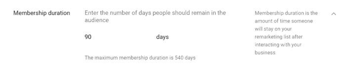 اگر لیست خود را تا 30 روز محدود کنید، ممکن است کاربران تغییر نکنند و لیست شما منقضی شود.
