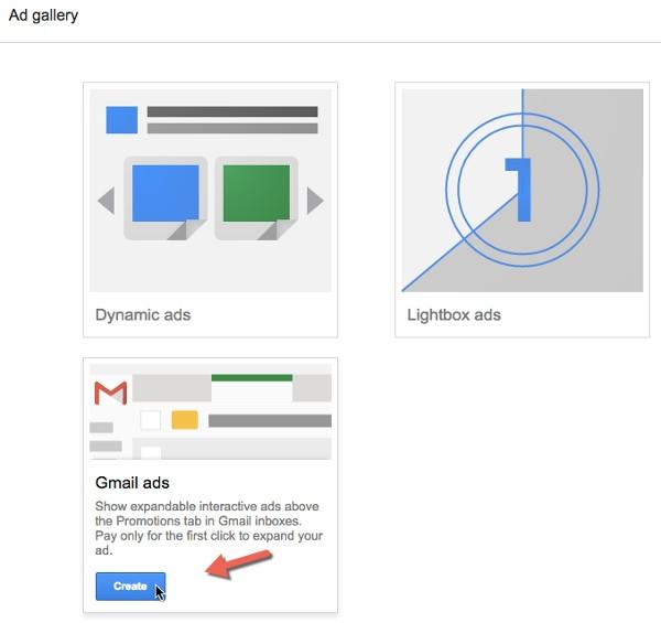 """"""" ads Gmail """" را از گزینههای گالری انتخاب کنید"""