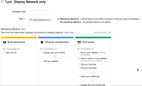 در این مرحله برای عملکرد درست بازاریابی خود گزینه drive action را انتخاب کنید.