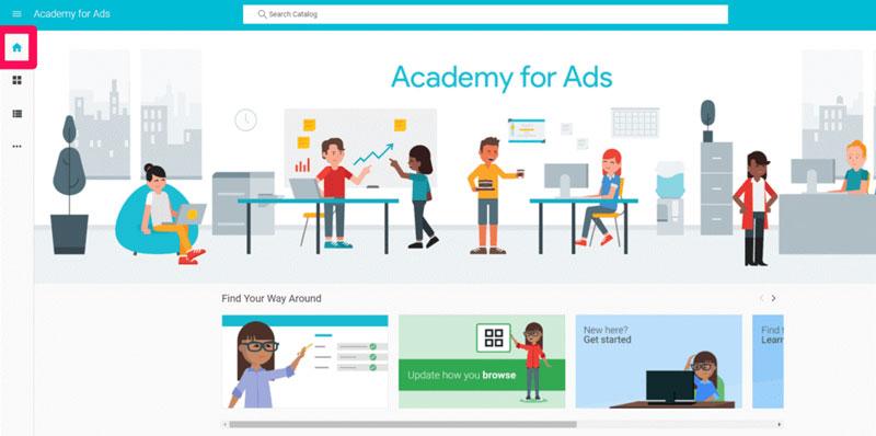 برای شروع مطالعه، به بخش خانگی داشبورد سیستم AdWords وارد شوید