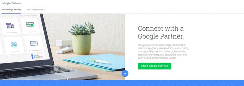 با استفاده از سایتی مثل پارتنرهای گوگل (Google Partners)، یک شرکت میتواند سازمانها یا مشاوران خود را با گواهیها پیدا کند