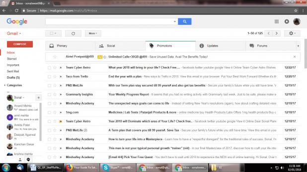 """تبلیغات هدفمند جیمیل در """" تب Promotions """"در Gmail inboxes به عنوان یک تبلیغ دستاول، ظاهر میشود."""