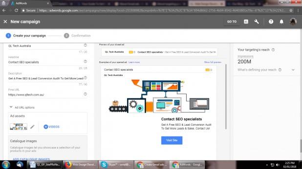 بدین ترتیب تبلیغ در گوگل شما در پیشنمایش ظاهر خواهد شد