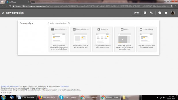 """باید گزینه """"تنها نمایش Network """"را انتخاب کنید و سپس بر روی """"کمپین Gmail""""به عنوان یک گزینه تیک بزنید."""