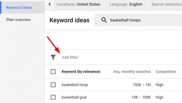 """بخش مهم بعدی صفحه نمایش نتایج """" اضافه کردن Filter """" است:"""