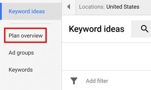 """بر روی """" مرور برنامه Plan overview """" کلیک کنید."""