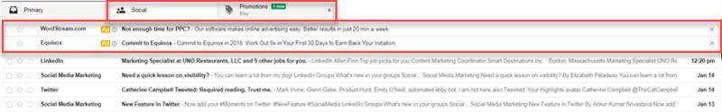 زبانه های تبلیغاتی Promotions tabs ، که این دو بخش را به مکانهای تبلیغ شما تبدیل میکند.