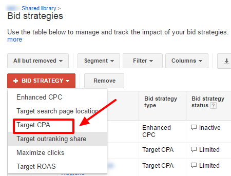 target-CPA-bidding-strategy